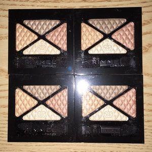 New lot of 4 Rimmel Glam Eyes Quad Eyeshadows #019